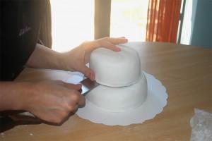 Montage du wedding cake